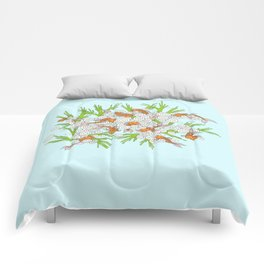 goldfishes blue Comforters