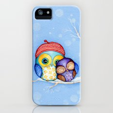 Owl in a Little Red Beret Slim Case iPhone (5, 5s)