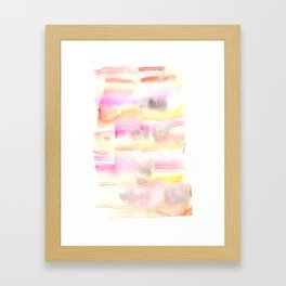 170527 Back to Basic Pastel Watercolour 24 |Modern Watercolor Art | Abstract Watercolors Framed Art Print