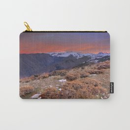 """""""Red sunset over the high mountains"""" Carry-All Pouch"""