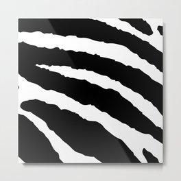 zebra fur animal print pattern Metal Print
