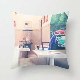 Let's get some shakes (Retro cafe) Throw Pillow
