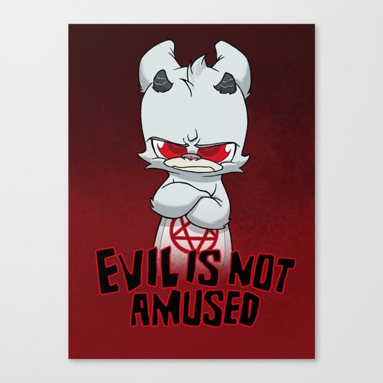 Cranky Evil Canvas Print