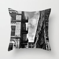 manchester Throw Pillows featuring  Northern Quarter MANchester by inkedsandra