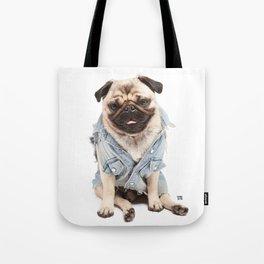 Helmut the Pug - Jean Jacket Tote Bag