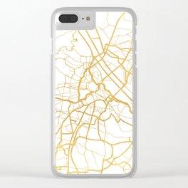VIENNA AUSTRIA CITY STREET MAP ART Clear iPhone Case