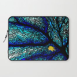 Sea fans diving coral stained glass Laptop Sleeve