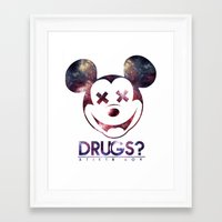 mouse Framed Art Prints featuring mouse by jeff'walker