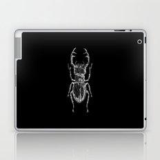 Lucanus cervus on dark Laptop & iPad Skin