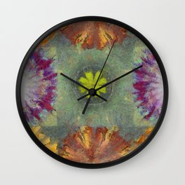 Trabes Stripped Flowers  ID:16165-151640-97070 Wall Clock