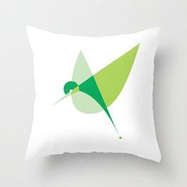 Contours: Hummingbird Throw Pillow