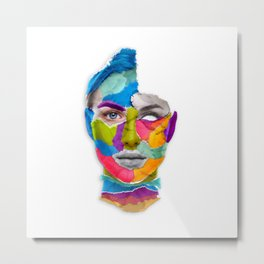 Torned Face Metal Print