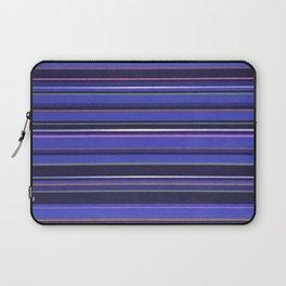 Blue-Purple Striped Pattern Laptop Sleeve