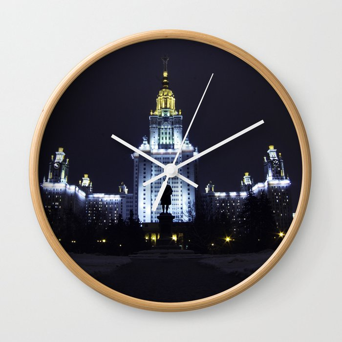 Night Life of Alma Mater III Wall Clock