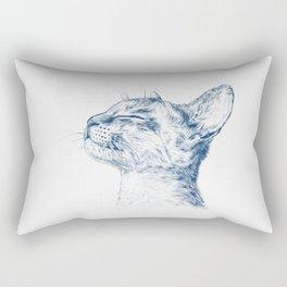Cute chilling cat Rectangular Pillow