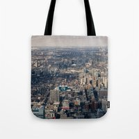 toronto Tote Bags featuring Toronto by Nick De Clercq