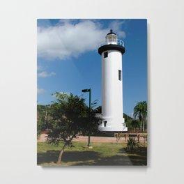 Old Lighthouse @ Rincon Metal Print