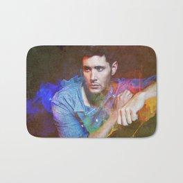 Jensen Ackles Watercolour Abstract Bath Mat