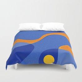 Orange Pop | Happy modern Art Duvet Cover