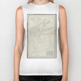 Vintage Map of White Plains NY (1921) Biker Tank