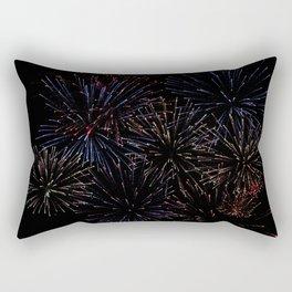 New Years Firework Texture Rectangular Pillow