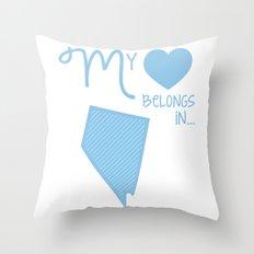 My Heart Belongs in Nevada Throw Pillow