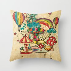 Funfair! Throw Pillow