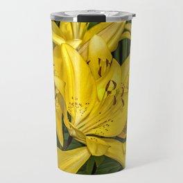 Golden Lilies Travel Mug