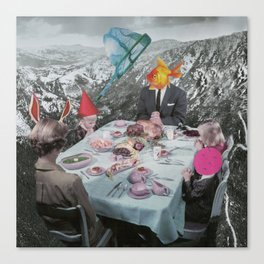 FAMILY AFFAIR- Contemporary Surrealist Collage Canvas Print