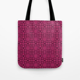 Pink Yarrow Geometric Tote Bag