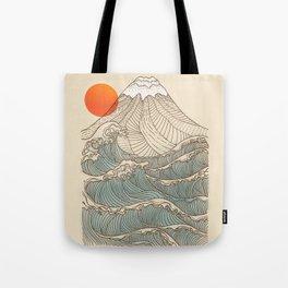 Mount Fuji the great wave  Tote Bag