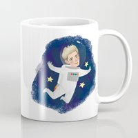 niall Mugs featuring Space Niall by Ashley R. Guillory