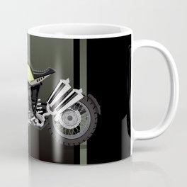 vintage motorcycle poster vector illustration Coffee Mug