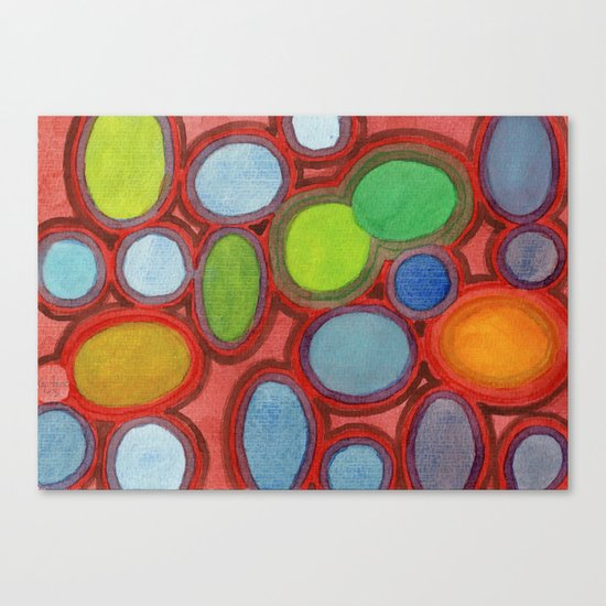 Abstract Moving Round Shapes Pattern Canvas Print
