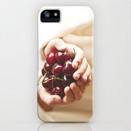 """One must ask children and birds how cherries and strawberries taste."" --Johann Wolfgang von Goethe  iPhone Case"