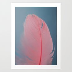 Coral feather Art Print