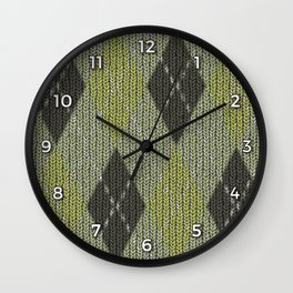 Cactus Garden Argyle 1 Wall Clock