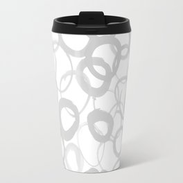 Watercolor Circle Gray Travel Mug