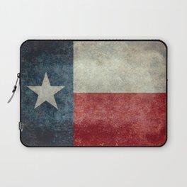 Texas state flag, Vertical retro vintage Laptop Sleeve