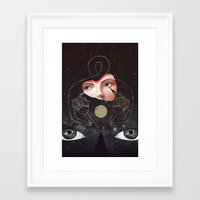 sister Framed Art Prints featuring Sister by Julia Sonmi Heglund