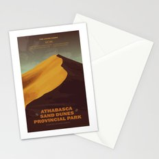 Athabasca Sand Dunes Poster Stationery Cards