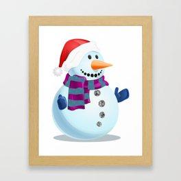 Jolly Snowman Framed Art Print