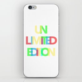 Unlimited Edition iPhone Skin