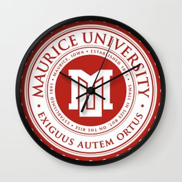 Maurice University Seal Wall Clock