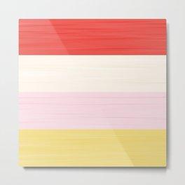 Brush Stroke Stripes: Strawberry Shortcake Metal Print