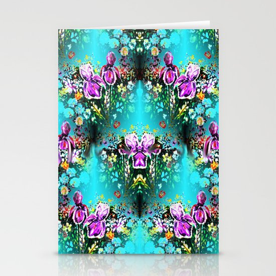 Abstract Garden Repeat Stationery Cards