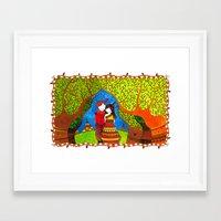 pocahontas Framed Art Prints featuring Pocahontas by Sandra Nascimento