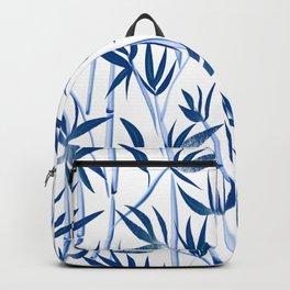 Blue bamboo tree seamless pattern  Backpack