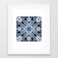 snowflake Framed Art Prints featuring Snowflake by Steve Purnell