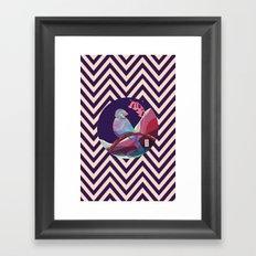 bird in pattern Framed Art Print
